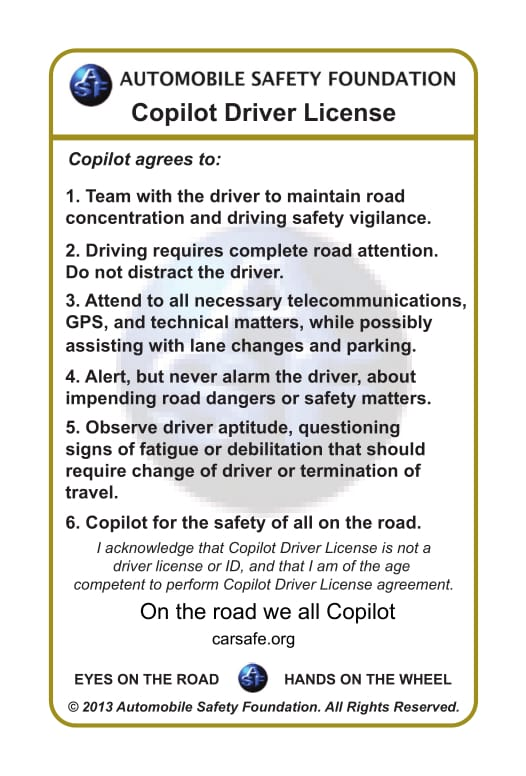 Copilot Drivers License