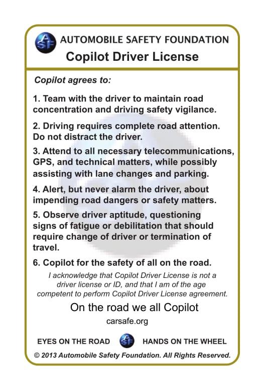 Copilot Drivers License
